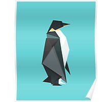 fractal geometric emperor penguin Poster