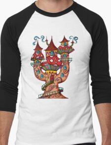 Mushroom House IIII Men's Baseball ¾ T-Shirt