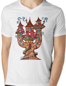 Mushroom House IIII Mens V-Neck T-Shirt