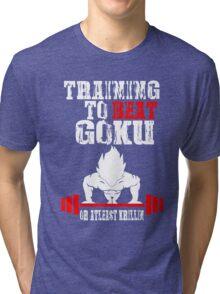 Training To Beat Goku Funny Gag Shirt Fro Men And Women Tri-blend T-Shirt