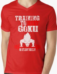 Training To Beat Goku Funny Gag Shirt Fro Men And Women Mens V-Neck T-Shirt