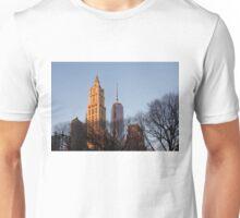 New York Skyline Through the Trees Unisex T-Shirt
