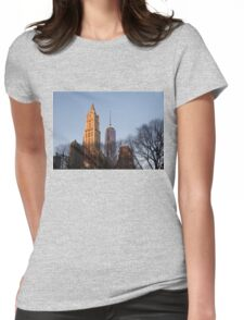 New York Skyline Through the Trees Womens Fitted T-Shirt