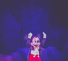 mickey mouse in fantasmic.  by Diana Kelly