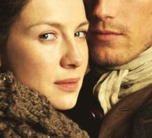 CLAIRE AND JAMIE OUTLANDER Sticker