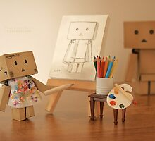 Danbo found being painted in the nude, to be a very liberating experience by OhSoBoHo