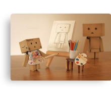 Danbo found being painted in the nude, to be a very liberating experience Canvas Print