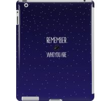 Remember Who You Are iPad Case/Skin