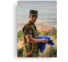 Soldier On Duty Canvas Print
