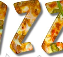 Pizza Word With Bevel Effect Sticker