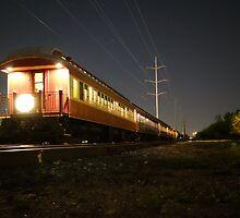 AMERICANA - Grapevine Texas Vintage Train by artfot