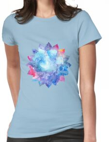 Lotus Flower 16 petals Womens Fitted T-Shirt