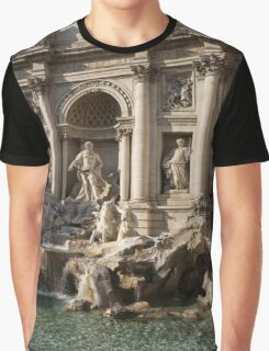 Toss a Coin to Return - Trevi Fountain, Rome, Italy Graphic T-Shirt
