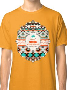 Native american seamless tribal pattern with geometric elements Classic T-Shirt