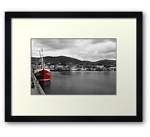 Red Fishing Trawler  Framed Print