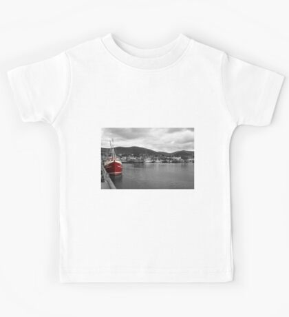 Red Fishing Trawler  Kids Tee
