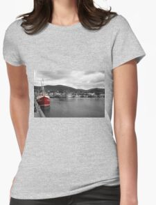 Red Fishing Trawler  Womens Fitted T-Shirt