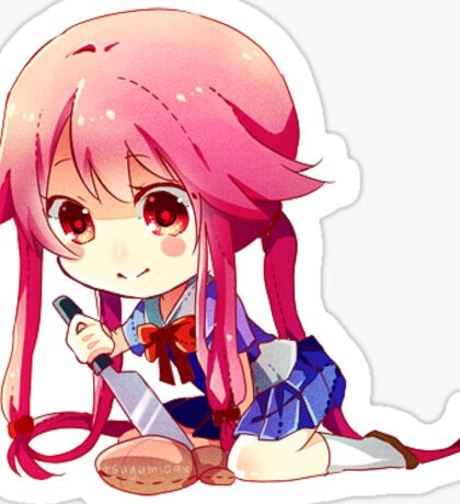 yuno anime girl chibi sticker Sticker
