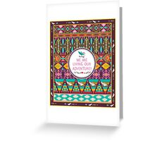 Native american seamless tribal pattern with geometric elements Greeting Card
