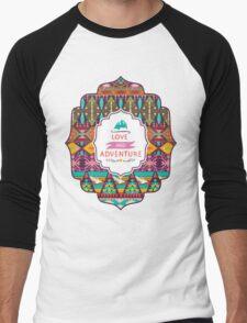 Native american seamless tribal pattern with geometric elements Men's Baseball ¾ T-Shirt
