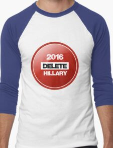 Delete Hillary  Men's Baseball ¾ T-Shirt