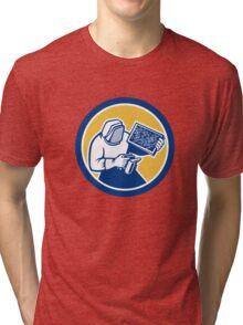 Beekeeper Honey Farmer Bee Smoker Circle Retro Tri-blend T-Shirt