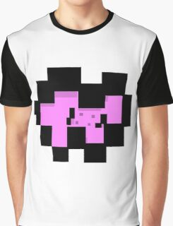 Pixel Pink Bow Tie Graphic T-Shirt