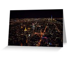 New York downtown Greeting Card