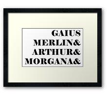 Merlin names Framed Print