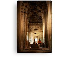 Angkor Buddha Canvas Print