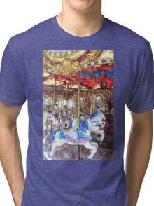 Carousel Watercolour Tri-blend T-Shirt