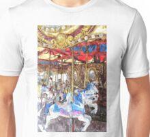 Carousel Watercolour Unisex T-Shirt
