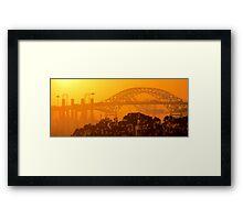 Steel Sunset Framed Print