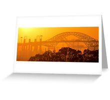 Steel Sunset Greeting Card