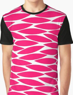 Abstract Leaf Design - Neon Red Graphic T-Shirt