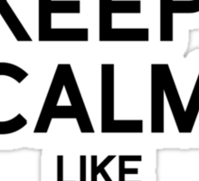KEEP CALM LIKE BEYONCE Sticker