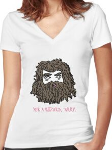 Hagrid Women's Fitted V-Neck T-Shirt