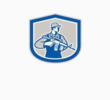 Soldier Military Serviceman Rifle Side Crest Retro Unisex T-Shirt