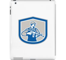 Soldier Military Serviceman Rifle Side Crest Retro iPad Case/Skin