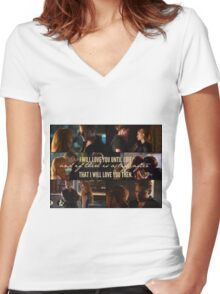 Clace - I will love you until I die Women's Fitted V-Neck T-Shirt