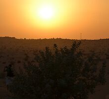 Dubai Desert Sunset - 1 by adamg17