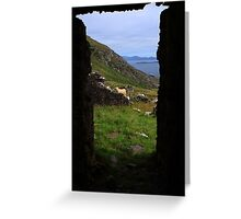 View From A Lighthouse Ruin  Greeting Card