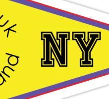 MONTAUK LONG ISLAND NEW YORK ANCHOR NAUTICAL SAILING FLAG PENNANT Sticker
