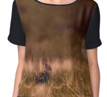 Creatures Great And Small Chiffon Top
