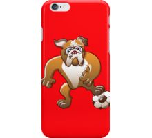 Bulldog Preparing to Kick a Soccer Ball iPhone Case/Skin