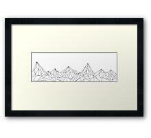 Night Court Mountains  Framed Print