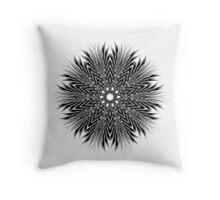 Black and White Zoom Kaleidoscope Throw Pillow 01 Throw Pillow
