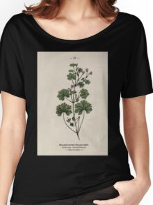 Wayside and woodland blossoms a pocket guide to British wild flowers for the country rambler  by Edward Step 1895 034 Round Leaved Crane's Bill Women's Relaxed Fit T-Shirt