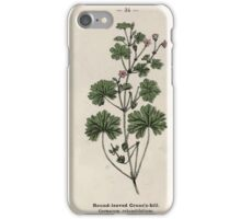 Wayside and woodland blossoms a pocket guide to British wild flowers for the country rambler  by Edward Step 1895 034 Round Leaved Crane's Bill iPhone Case/Skin