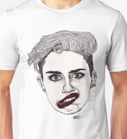Miley with Red Lips Unisex T-Shirt